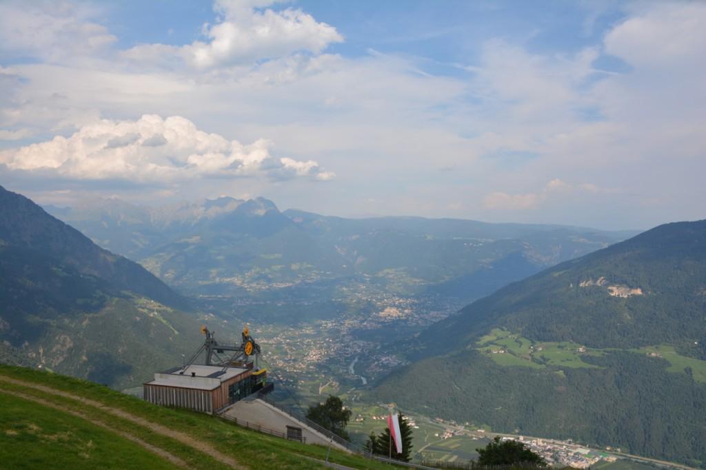 Bereits auf dem Giggelberg haben wir eine fantastische Aussicht in die Südtiroler Bergwelt.